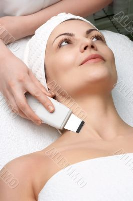 beauty salon series, ultrasound skin cleaning