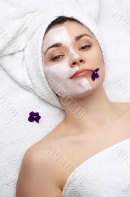 beauty salon series: facial mask