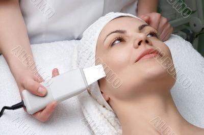 beauty salon series, ultrasound skin cleaning
