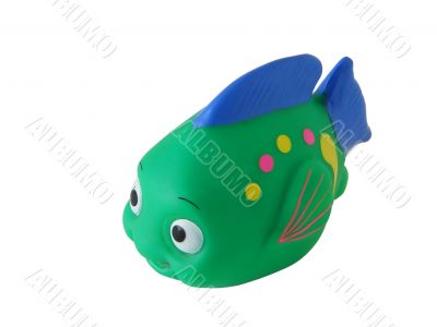 Toy green fish