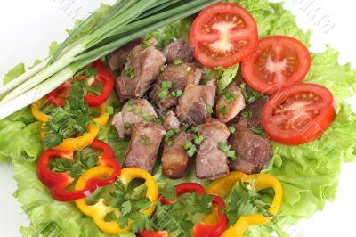 Appetizing shish kebab