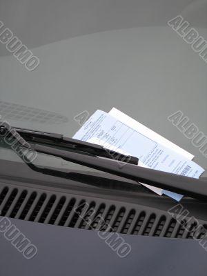 ticket on a car