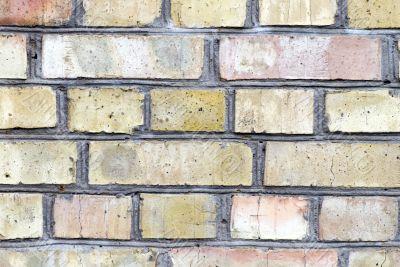 Old brick wall texture on sunlight