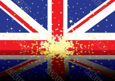british flag reflect