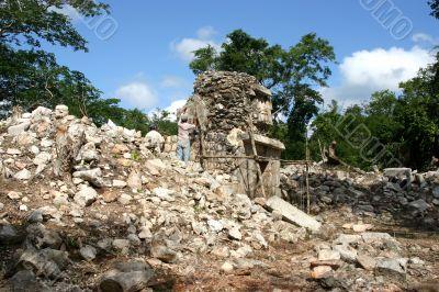 Restoration of maya ruins