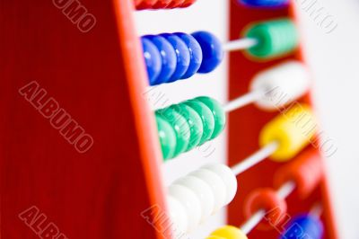 Close-up from a abacus