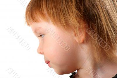 Profile portrait of beauty little girl