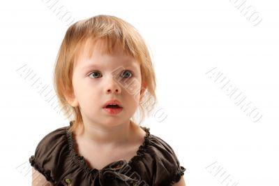 Little beauty girl terrifically wonder