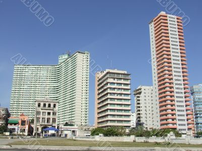 Two of the tallest buildings of Havana