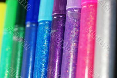 Line of Glitter Glue