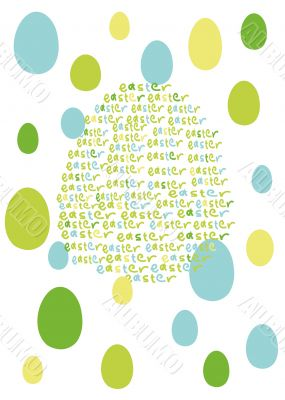 computer generated easter background with words