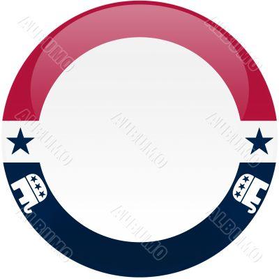 Republican Button with Small Logos