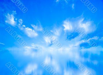 Beautiful blue sky panorama