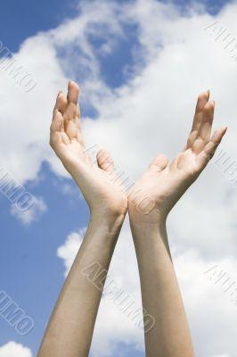 Hands on sky