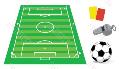 Soccer field in perspective