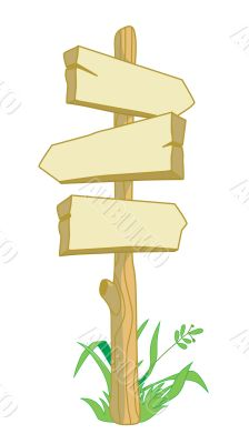 Wooden pointer directions