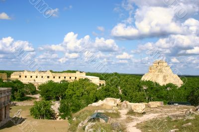 Overview of mayan site