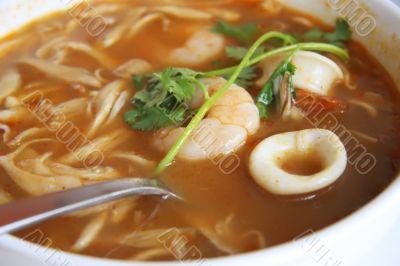 Spicy thomyam soup