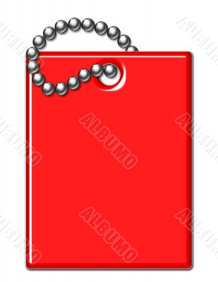 Red Shiny Luggage Tag Illustration