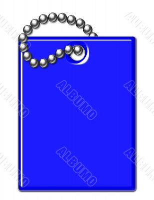 Blue Shiny Luggage Tag Illustration