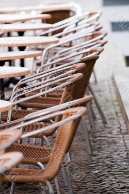 Sidewalk cafe chairs