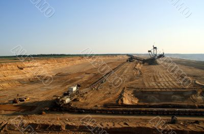 Brown coal open mining
