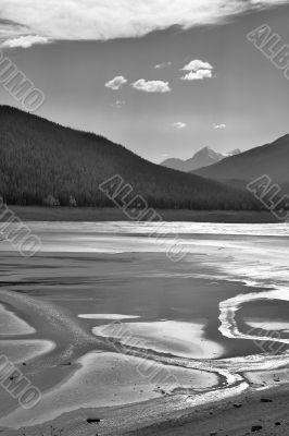 Solar shine in lake.