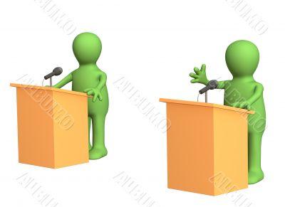 3d puppets, participating political debate