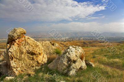 Huge stones.