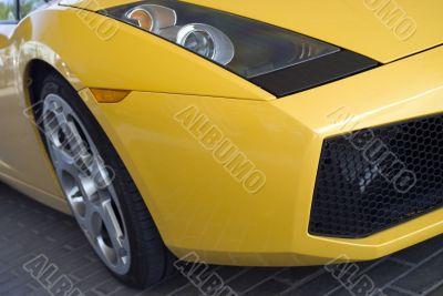 Yellow Sport Car Wheel