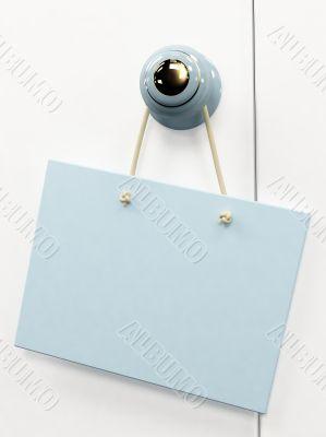 3d tablet, hanging on the door handle