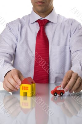 Select the best house and car