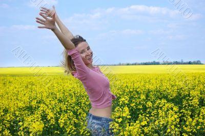 Joy among rape field