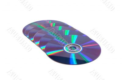 Laid out in a number compact disk
