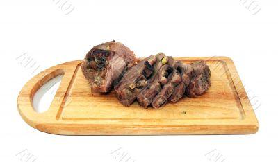 Appetizing boiled pork