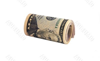Cylinder pack of 50 dollars banknotes