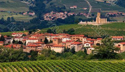 Village in Beaujolais region, France