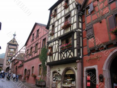 Main street `Grand rue` Village of Riquewihr
