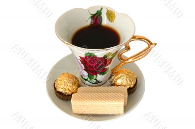 Cup of tea and sweeties.