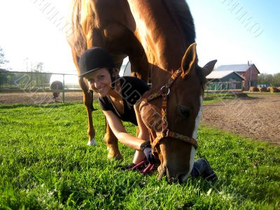 Friendship girl and horse