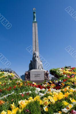 Monument of freedom in Riga, Latvia