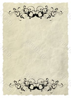 Background - old paper can be used in many applications