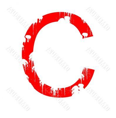 Grunge Letter C