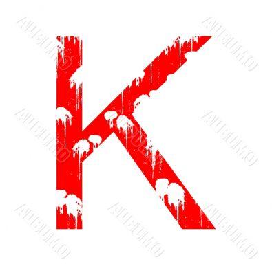 Grunge letter K
