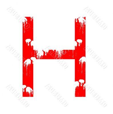 Grunge letter H