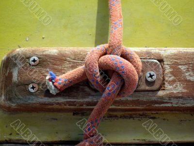 detail yacht rope