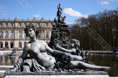Fountain statue at Herrenchiemsee