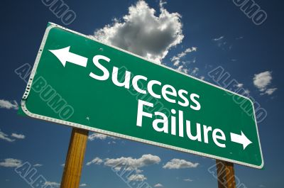 Success, Failure Road Sign
