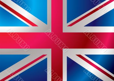 britain flag ripple