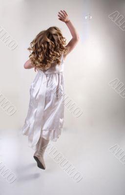 fluing girl